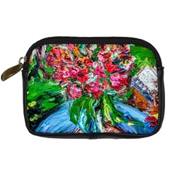 Paint, Flowers And Book Digital Camera Cases