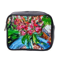 Paint, Flowers And Book Mini Toiletries Bag 2 Side