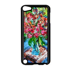 Paint, Flowers And Book Apple Ipod Touch 5 Case (black)