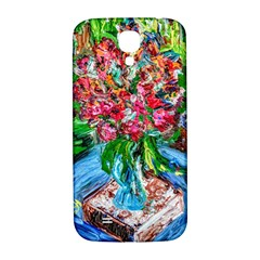 Paint, Flowers And Book Samsung Galaxy S4 I9500/i9505  Hardshell Back Case