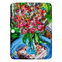 Paint, Flowers And Book Samsung Galaxy Tab 3 (10 1 ) P5200 Hardshell Case