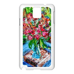 Paint, Flowers And Book Samsung Galaxy Note 3 N9005 Case (white)