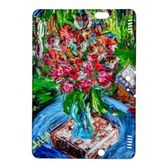 Paint, Flowers And Book Kindle Fire Hdx 8 9  Hardshell Case