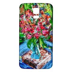 Paint, Flowers And Book Samsung Galaxy S5 Back Case (white)