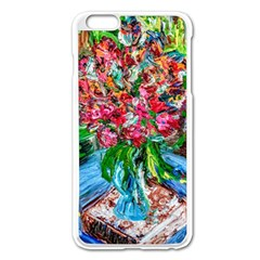 Paint, Flowers And Book Apple Iphone 6 Plus/6s Plus Enamel White Case