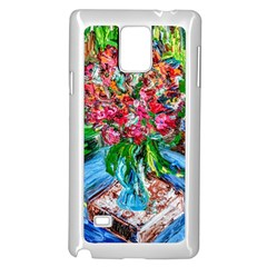 Paint, Flowers And Book Samsung Galaxy Note 4 Case (white)
