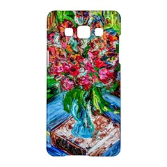 Paint, Flowers And Book Samsung Galaxy A5 Hardshell Case