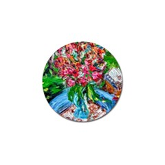 Paint, Flowers And Book Golf Ball Marker (10 Pack)