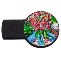 Paint, Flowers And Book Usb Flash Drive Round (2 Gb) by bestdesignintheworld