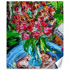 Paint, Flowers And Book Canvas 8  X 10