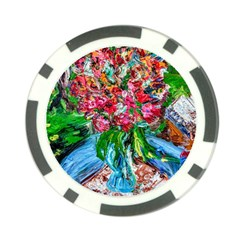 Paint, Flowers And Book Poker Chip Card Guard (10 Pack)
