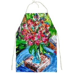 Paint, Flowers And Book Full Print Aprons