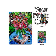 Paint, Flowers And Book Playing Cards 54 (mini)