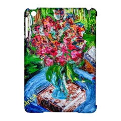 Paint, Flowers And Book Apple Ipad Mini Hardshell Case (compatible With Smart Cover)