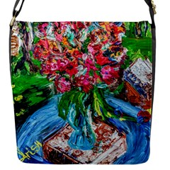 Paint, Flowers And Book Flap Messenger Bag (s)
