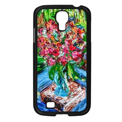 Paint, Flowers And Book Samsung Galaxy S4 I9500/ I9505 Case (black)