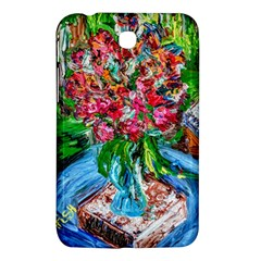 Paint, Flowers And Book Samsung Galaxy Tab 3 (7 ) P3200 Hardshell Case