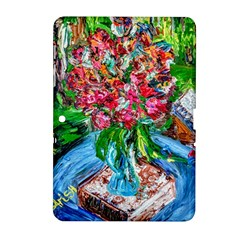 Paint, Flowers And Book Samsung Galaxy Tab 2 (10 1 ) P5100 Hardshell Case