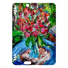 Paint, Flowers And Book Kindle Fire Hdx Hardshell Case