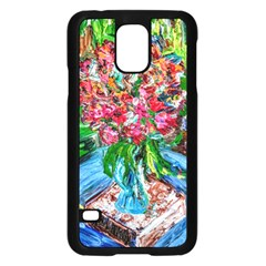 Paint, Flowers And Book Samsung Galaxy S5 Case (black)