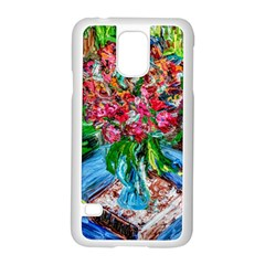 Paint, Flowers And Book Samsung Galaxy S5 Case (white)