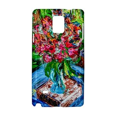 Paint, Flowers And Book Samsung Galaxy Note 4 Hardshell Case