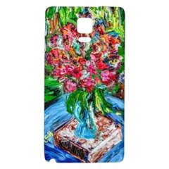Paint, Flowers And Book Galaxy Note 4 Back Case