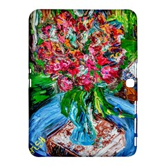 Paint, Flowers And Book Samsung Galaxy Tab 4 (10 1 ) Hardshell Case