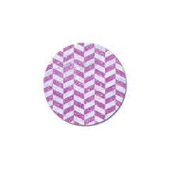 Chevron1 White Marble & Purple Glitter Golf Ball Marker (4 Pack) by trendistuff