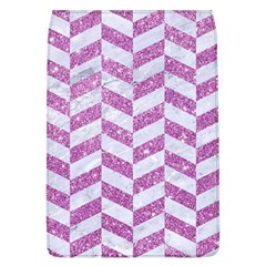 Chevron1 White Marble & Purple Glitter Flap Covers (l)  by trendistuff
