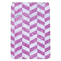 Chevron1 White Marble & Purple Glitter Flap Covers (s)