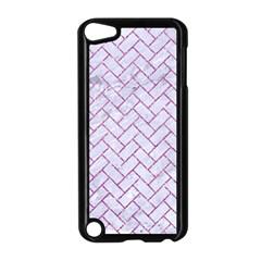 Brick2 White Marble & Purple Glitter (r) Apple Ipod Touch 5 Case (black)