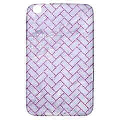 Brick2 White Marble & Purple Glitter (r) Samsung Galaxy Tab 3 (8 ) T3100 Hardshell Case  by trendistuff