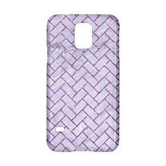 Brick2 White Marble & Purple Glitter (r) Samsung Galaxy S5 Hardshell Case