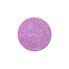 Brick2 White Marble & Purple Glitter Golf Ball Marker (10 Pack)