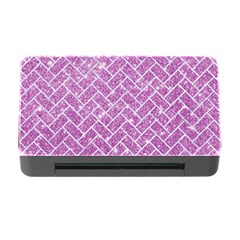 Brick2 White Marble & Purple Glitter Memory Card Reader With Cf