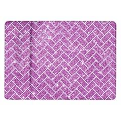 Brick2 White Marble & Purple Glitter Samsung Galaxy Tab 10 1  P7500 Flip Case