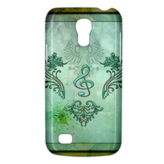 Music, Decorative Clef With Floral Elements Galaxy S4 Mini