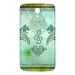 Music, Decorative Clef With Floral Elements Samsung Galaxy Mega I9200 Hardshell Back Case by FantasyWorld7