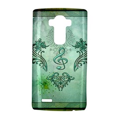 Music, Decorative Clef With Floral Elements Lg G4 Hardshell Case