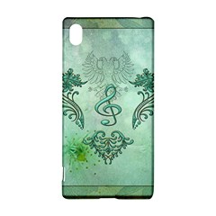 Music, Decorative Clef With Floral Elements Sony Xperia Z3+