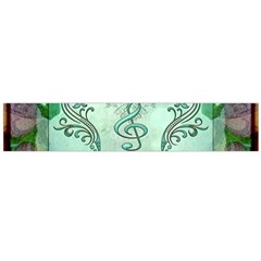 Music, Decorative Clef With Floral Elements Flano Scarf (large)  by FantasyWorld7