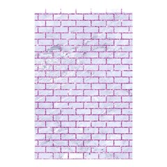 Brick1 White Marble & Purple Glitter (r) Shower Curtain 48  X 72  (small)