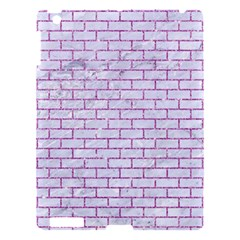 Brick1 White Marble & Purple Glitter (r) Apple Ipad 3/4 Hardshell Case