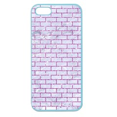 Brick1 White Marble & Purple Glitter (r) Apple Seamless Iphone 5 Case (color)
