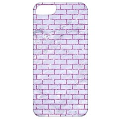Brick1 White Marble & Purple Glitter (r) Apple Iphone 5 Classic Hardshell Case