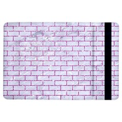 Brick1 White Marble & Purple Glitter (r) Ipad Air Flip