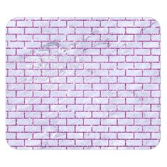 Brick1 White Marble & Purple Glitter (r) Double Sided Flano Blanket (small)