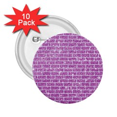 Brick1 White Marble & Purple Glitter 2 25  Buttons (10 Pack)