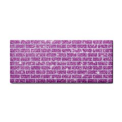 Brick1 White Marble & Purple Glitter Cosmetic Storage Cases